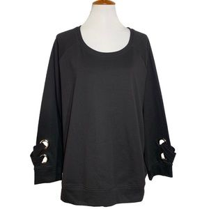 Crescent {Boutique} Pullover Black Sweatshirt